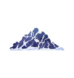 mountains in snow snowy rocky cliffs and peaks vector image