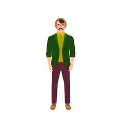 musician man isolated icon vector image
