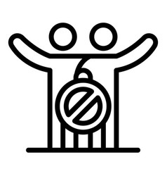 No hugs icon outline style vector