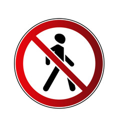 no walking sign vector image