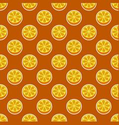 orange fruit seamless bright pattern vector image