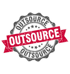outsource stamp sign seal vector image
