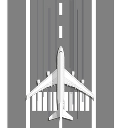 plane standing on landing strip vector image