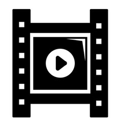 play film strip icon simple black style vector image