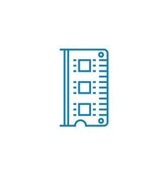 ram module linear icon concept ram module line vector image