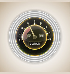 realistic speedometer interface background vector image