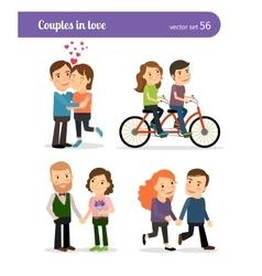 Romantic couples set vector image
