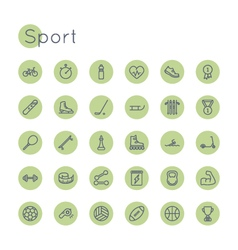 Round Sport Icons vector