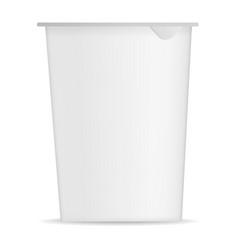 round yogurt box mockup realistic style vector image