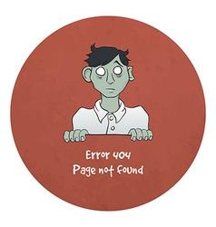 Sad Young Zombie - Error 404 vector