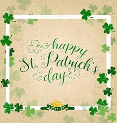 Saint Patricks Day Typographical Vintage vector image