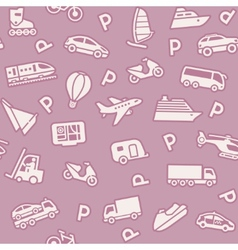 seamless background transport icons vector image