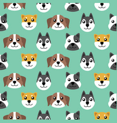 seamless cute puppy pattern background vector image