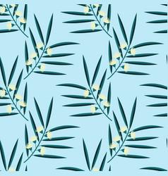 Seamless eucalyptus pattern vector