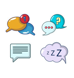 speech bulb icon set cartoon style vector image