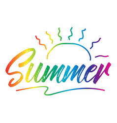 summer text for stickers vector image