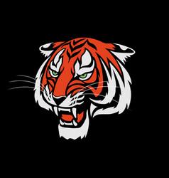 Tiger roaring head logo sign emblem vector
