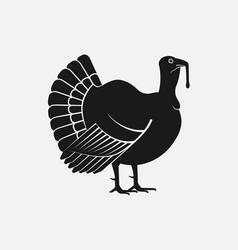Turkey male silhouette farm animal icon vector
