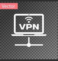 white vpn computer network icon isolated on vector image