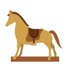 wooden horse toy vector image