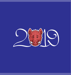 year of the boar vector image