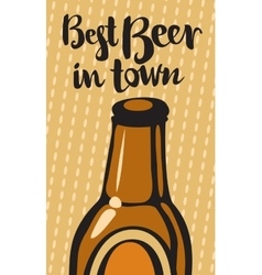 best beer and town vector image