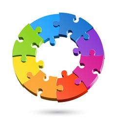 jigsaw puzzle wheel vector image vector image