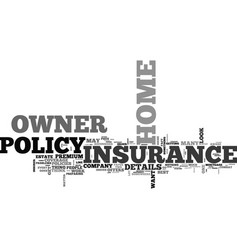 what does your home owner insurance cover text vector image vector image
