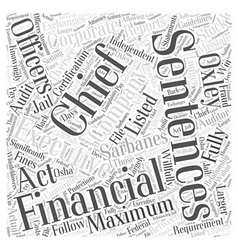 What is the sarbanes oxley act word cloud concept vector