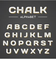3D Chalk Alphabet vector image