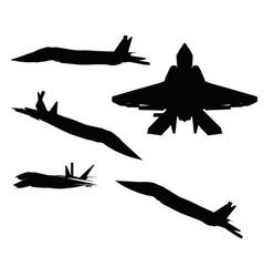 Razorback strike fighter on white background vector