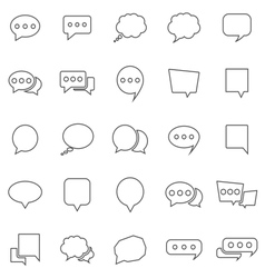 Speech Bubble line icons on white background vector image vector image
