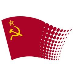 ussr flag - soviet union flag vector image vector image