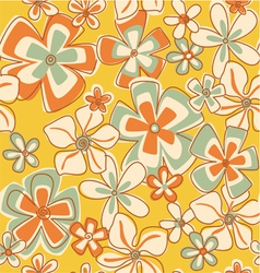 Vintage Abstract Flowers vector image vector image