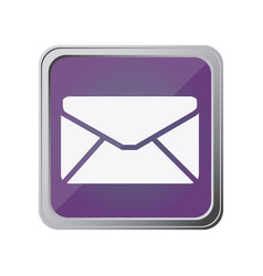 button with envelope closed with background purple vector image vector image