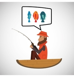 fishing design sport icon Isolated image vector image vector image