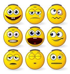 fun smileys vector image vector image