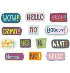 label expressions vector image vector image