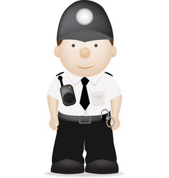 uk policeman vector image vector image