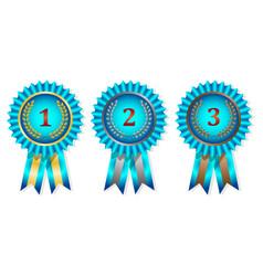 award medals set on white background vector image
