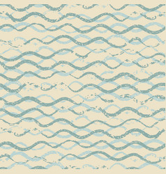 beautiful seamless pattern with wavy brush strokes vector image vector image