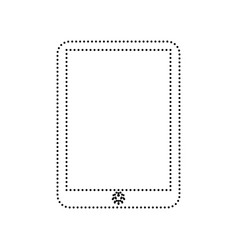 computer tablet sign black dotted icon on vector image