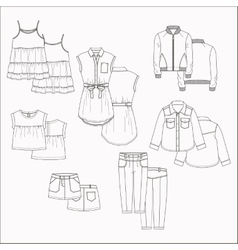 kids clothes vector image vector image