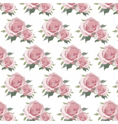 Watercolor Pink Roses pattern vector image vector image
