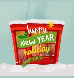 2018 new year shop or merry christmas store vector image