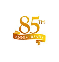 85 year ribbon anniversary vector