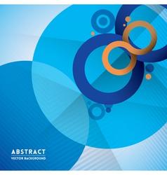 Abstract infinity symbol and circle shape vector