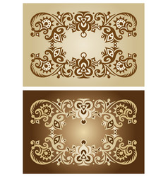 abstract ornamental nature vintage frames vector image