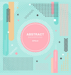 abstract pastels color geometric elements vector image