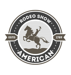 American rodeo show isolated label vector
